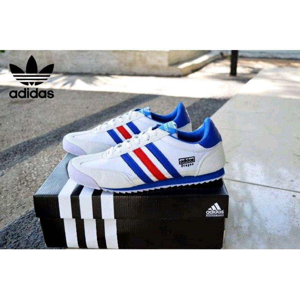 harga Promo Sepatu Adidas Dragon White France Fashion Lazada.co.id