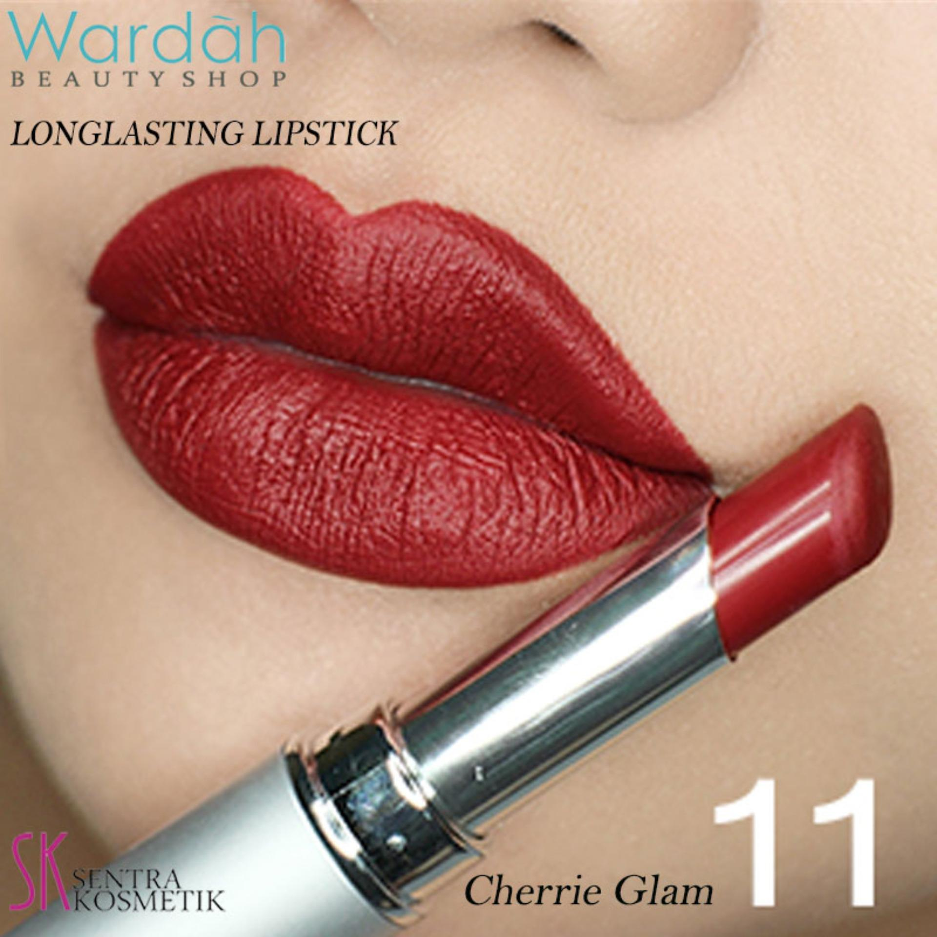 Wardah LONGLASTING Lipstick No.11 Cherrie Glam