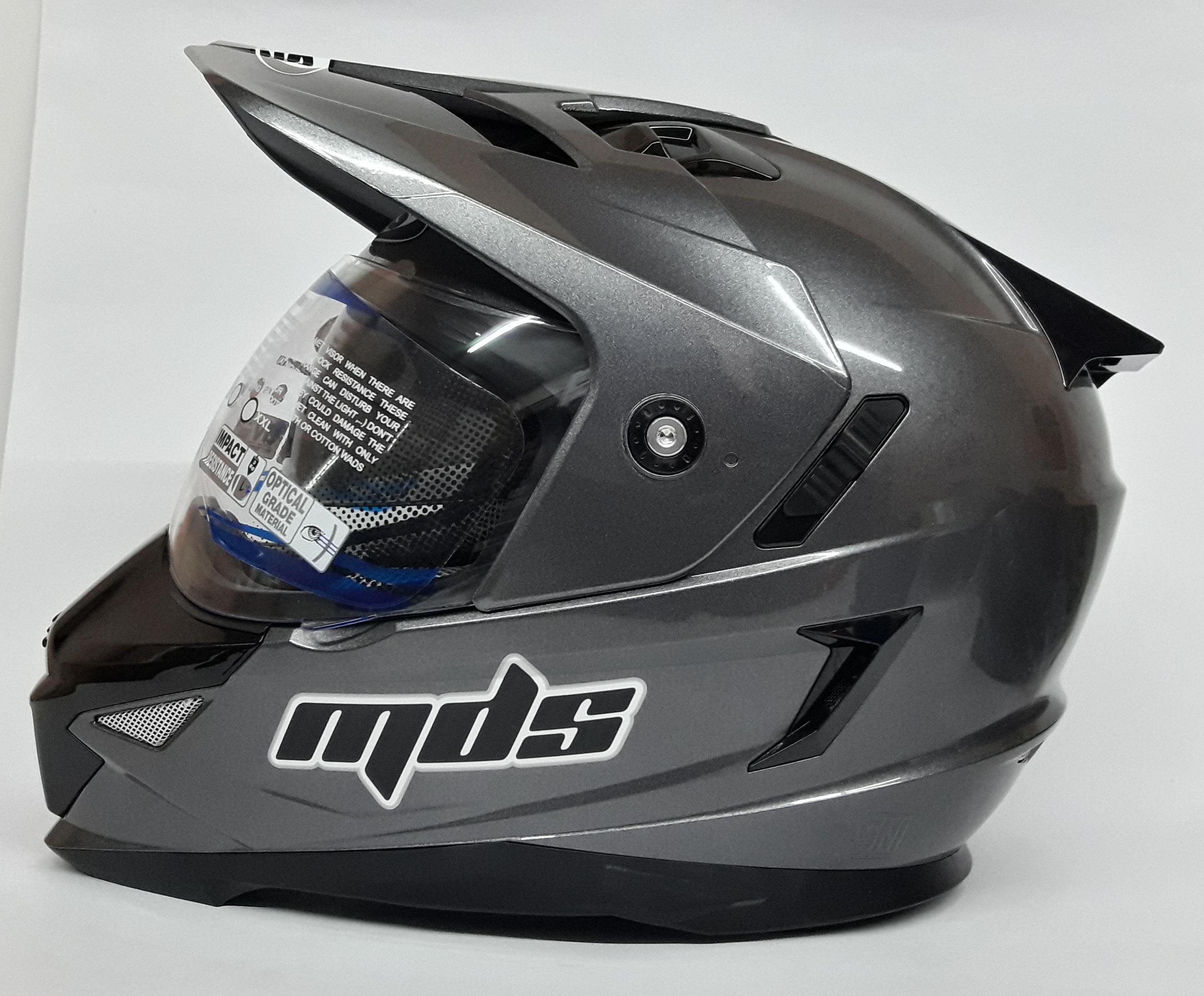 Mds Super Pro helm Fullface - Graphite metalik
