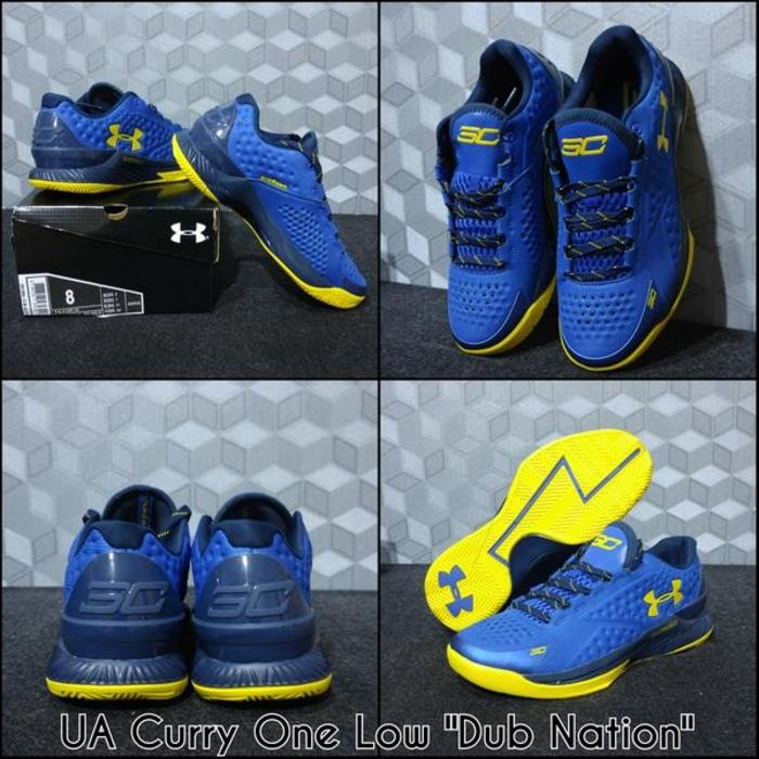 sepatu basket under armour curry 1 warrior dub nation / nike / jordan