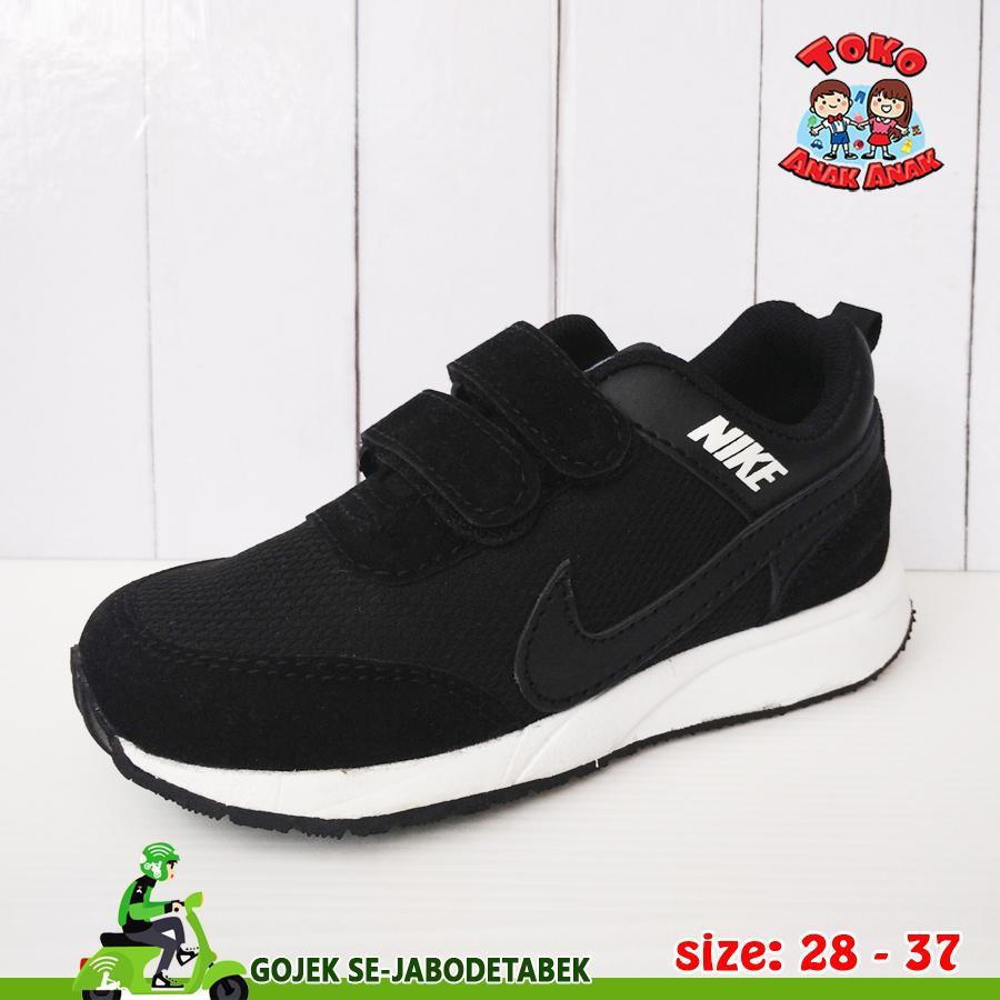 Sepatu Nike Pegasus Anak - Hitam List Hitam