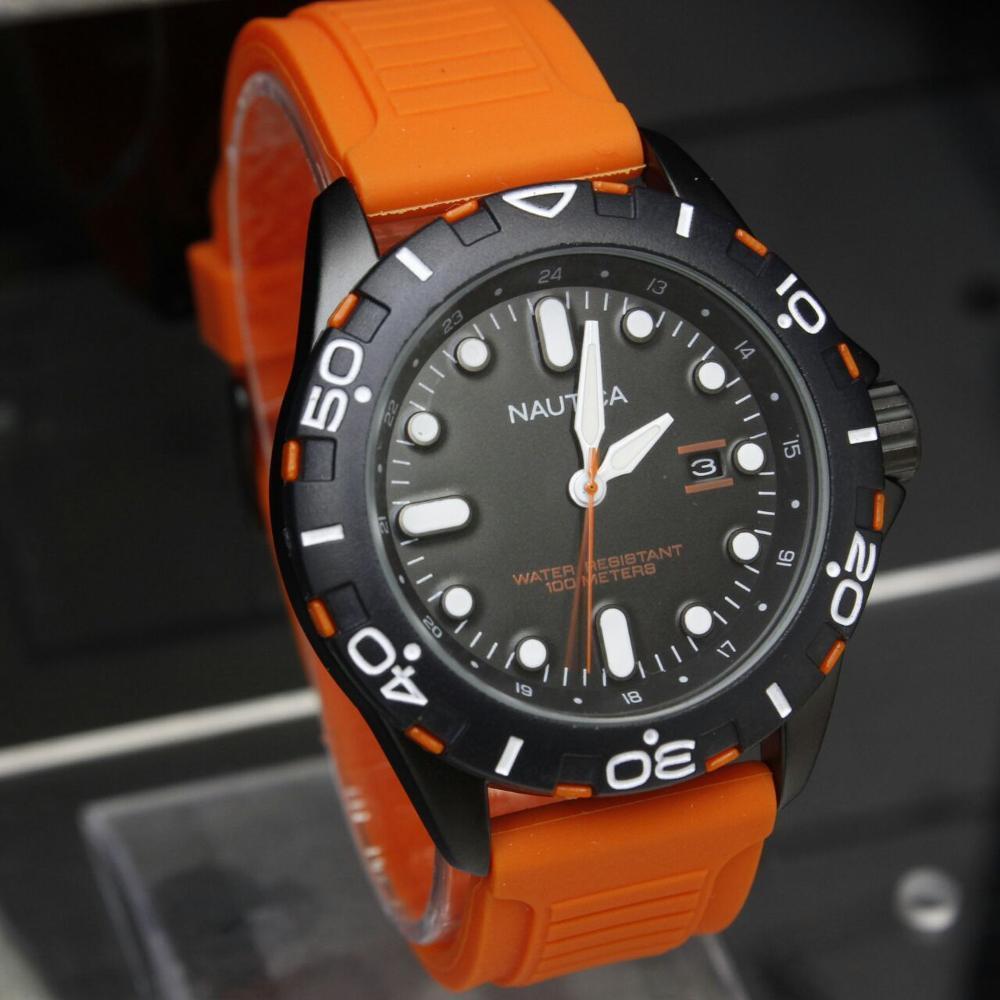 Jam Tangan Pria Nautica Rubber by hargajam cowok murah - 3 pilihan warna - harga jam