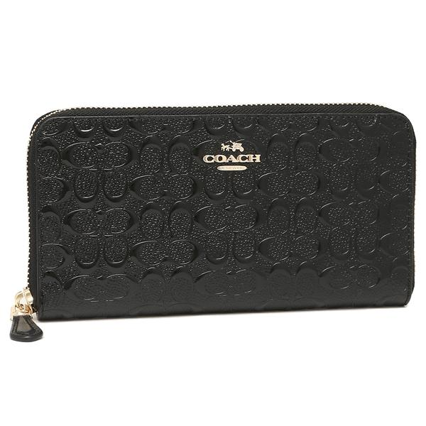 Coach Accordion Zip Signature Debossed Patent Leather Wallet 54805 Dompet . Authentic Original Asli USA Store /Counter