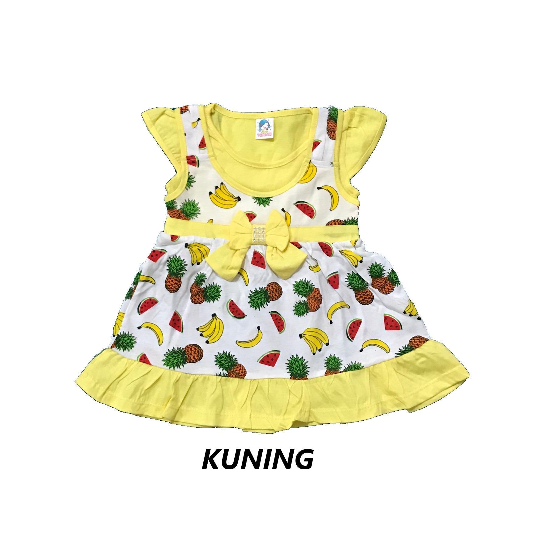 BAYIe - Baju Bayi Anak Perempuan Lengan Pendek motif BUAH YORABE usia 1 - 2 tahun / Pakaian anak Cewek