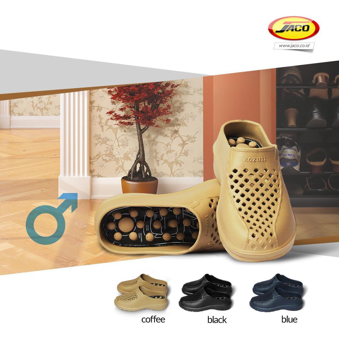 Kehebatan Kozuii Sandal Refleksi Outdoor Pria Ion Magnetic 2 Sol Sendal Kesehatan Terapi Gen 3 Health