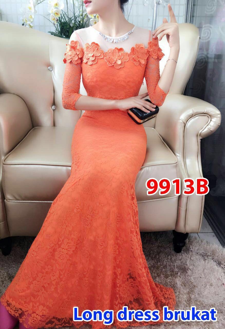 9913b# baju pesta impor / gaun pesta / gaun prewedding/ longdress fashion