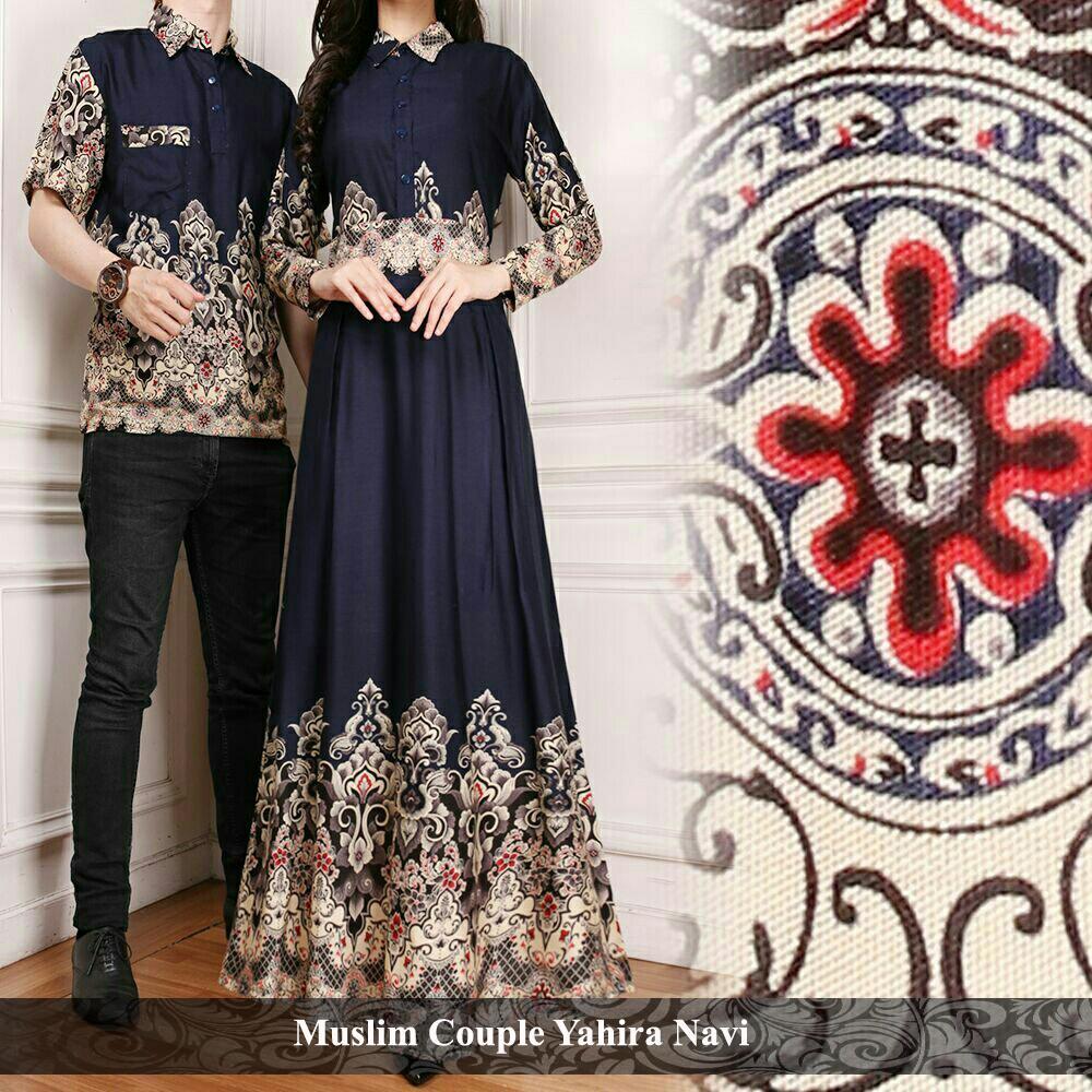 PROMO Baju muslim sarimbit keluarga  Baju muslim couple keluarga  Muslim Yahira Navi