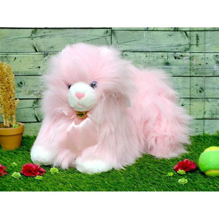 Boneka Kucing Anggora Pink - 3U6npS