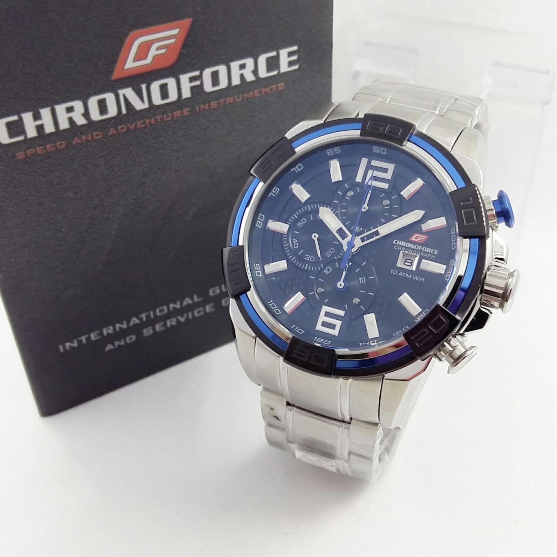 CHRONOFORCE CR5238 - Jam Tangan Kasual Pria - Full Stainless - Chronograph  Mode e34d1b2c7d