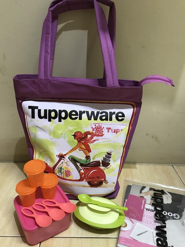 Small Summer Fresh + Sambal Dish + Tas Member Kitbag Tupperware