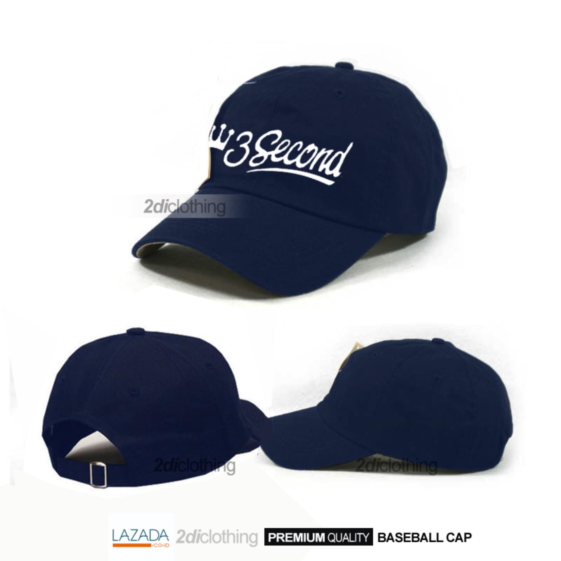 Topi baseball cap 3second navy premium