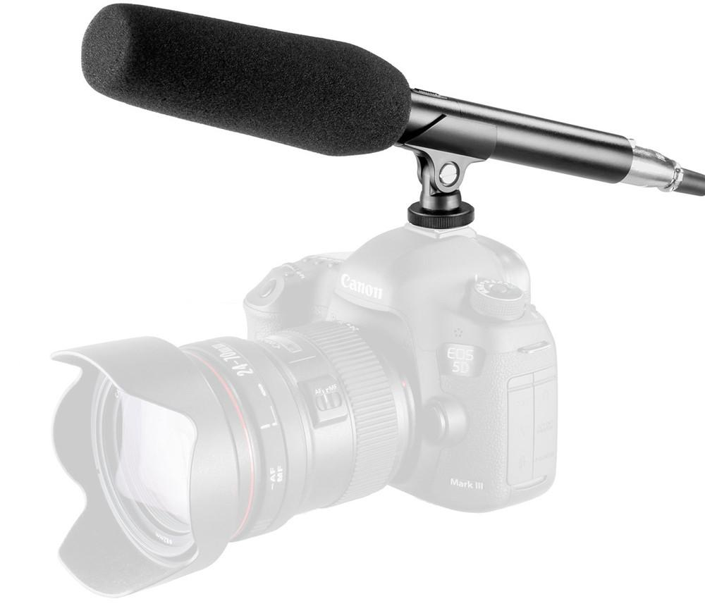 Microphone For DSLR Camera Mikrofon Kamera model Shotgun untuk Video Film Studio Vlog
