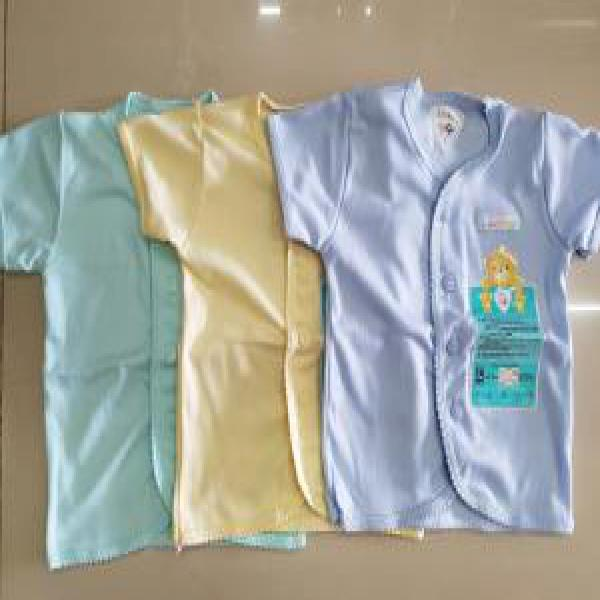 Libby tangan pendek warna S M L 3pcs baju bayi kaos bayi