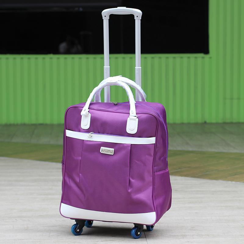 c2d825cf8ad6 Universal Wheel Trolley Bag Travel Bag Female Hand Boarding Bag Large  Capacity Waterproof Short Trip Tour