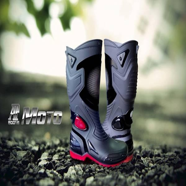 Sepatu Karet PVC Anti Tembus Air Banjir Hujan AP BOOTS MOTO 3 MOTO3 - Hitam- 38