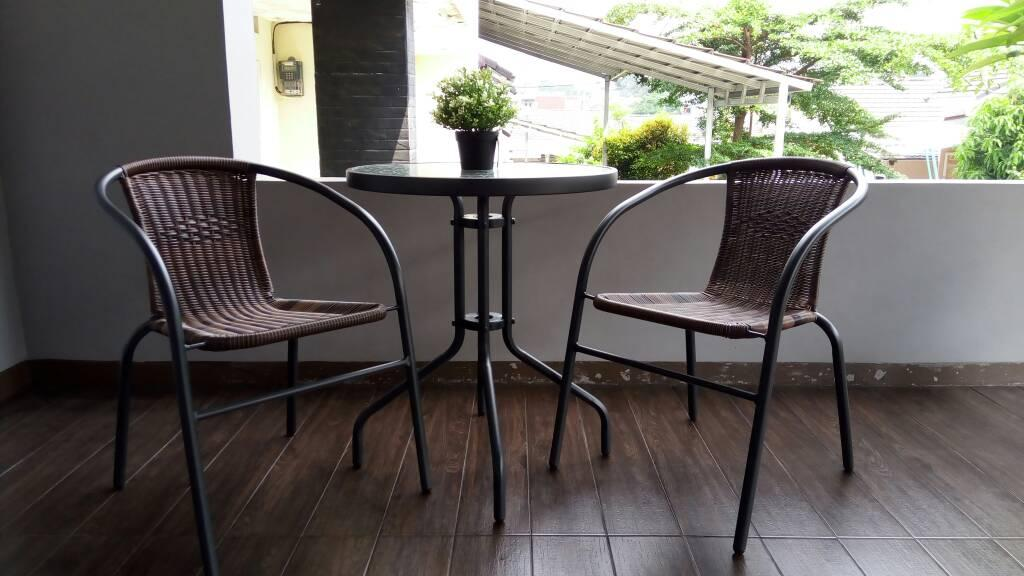 SALE !! 2 Kursi Set Meja Kaca Informa Indoor Outdoor