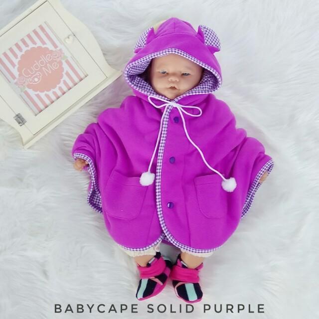 Cuddle Me Baby Cape Jaket Bayi / Selimut Bayi - Solid Purple