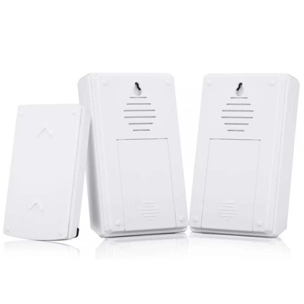Bel Pintu Nirkabel Tahan Air 36 Melodi Smart Alarm Rumah Putih Linptech Linbell G2 Self Generating Wireless Waterproof Door Bell Magnet Original Forecum Double Receiver Home Digital With Led Indicator
