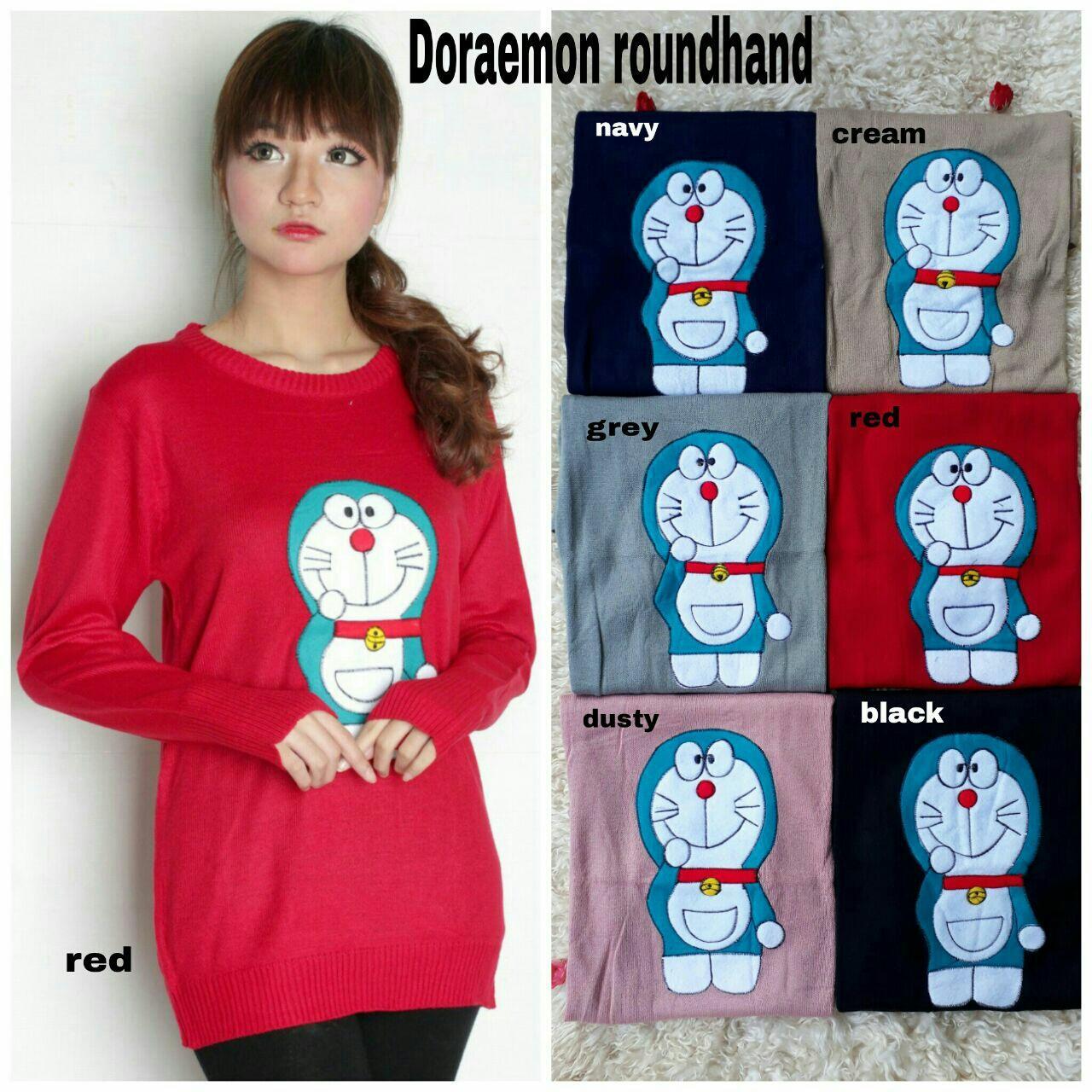 NV sweater doraemon rajut / Baju Wanita / Blouse Korea / Atasan Wanita / Baju Formal / Kemeja Wanita / Kemeja Formal / Atasan Muslim / Kemeja Cewek Tunik