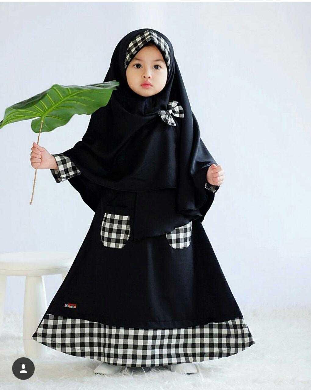 Newone Shop Kaila Gamis Syari anak Wanita - Baju Muslim Anak Perempuan Terbaru