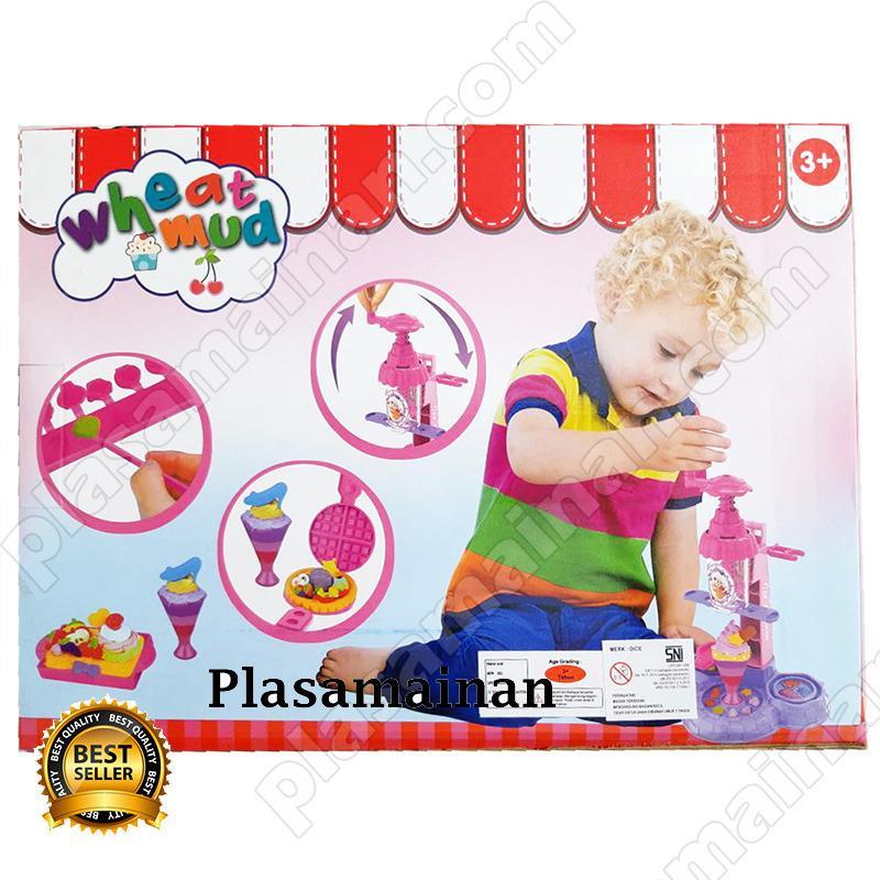 Detail Gambar MOMO Toys Ice Cream Machine Mainan Lilin / Doh Anak Terbaru