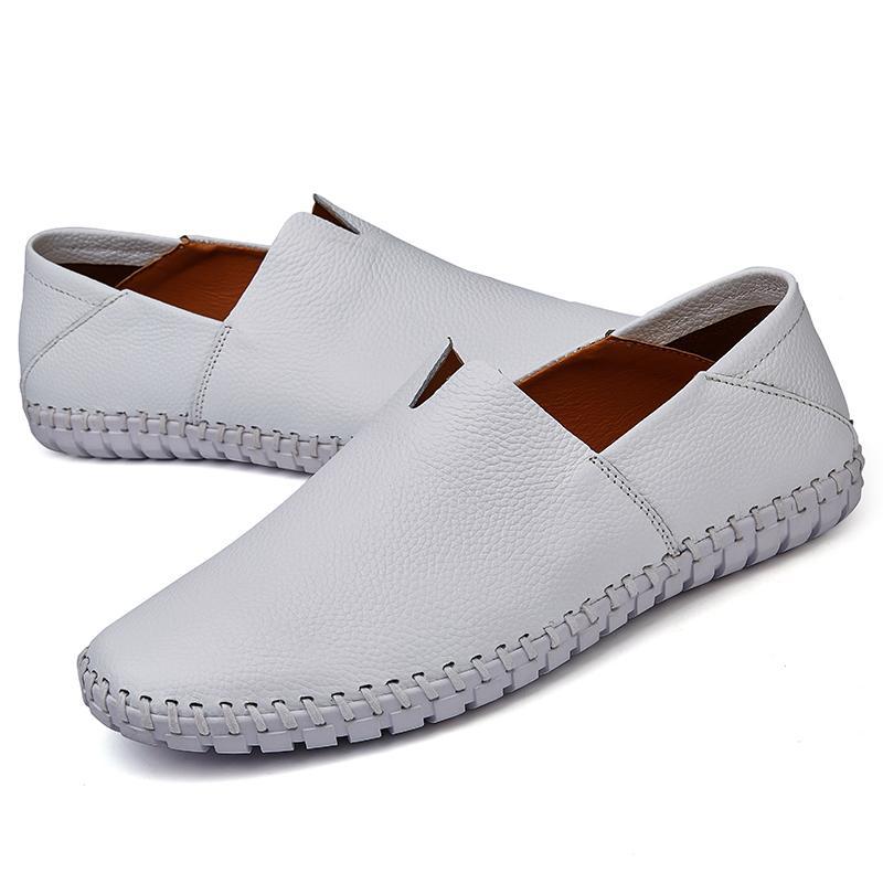Kualitas Tinggi Sepatu Kulit Asli Pria Sepatu Kulit Sapi Kasual Selip-On Loafer Sepatu Mengemudi Nyaman Sepatu Kaos Sepatu kets Pria Kulit Asli Sepatu Sapi Kulit Sepatu Santai Selip-On Loafer Nyaman Mengemudi Sepatu Modis Sneakers