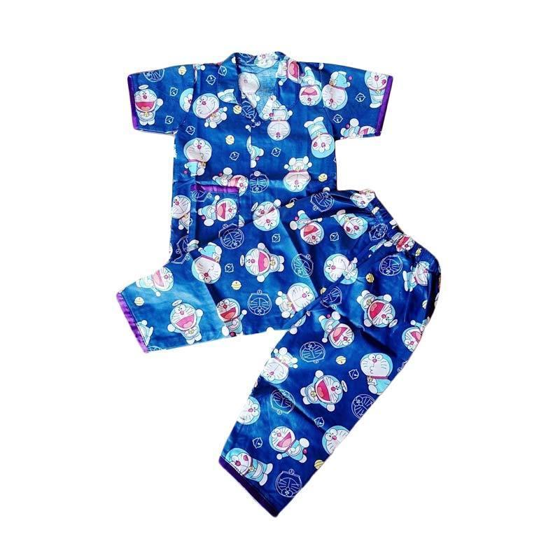 Baju Motif Kartun Doraemon Atau Piyama Lucu Buat Sikecil Untuk umur 5 - 12 Bulan