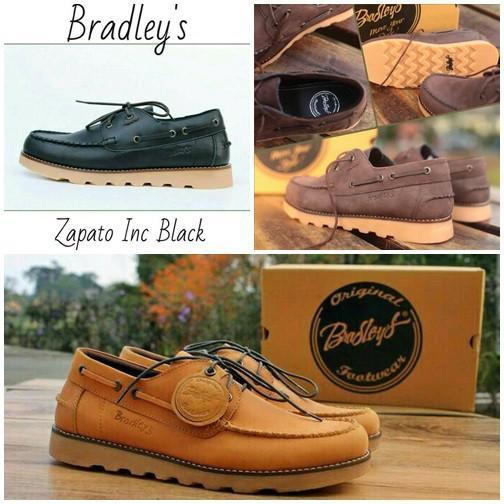 Bradley's Zapato Casual Kulit Asli PREMIUM Sepatu Pria