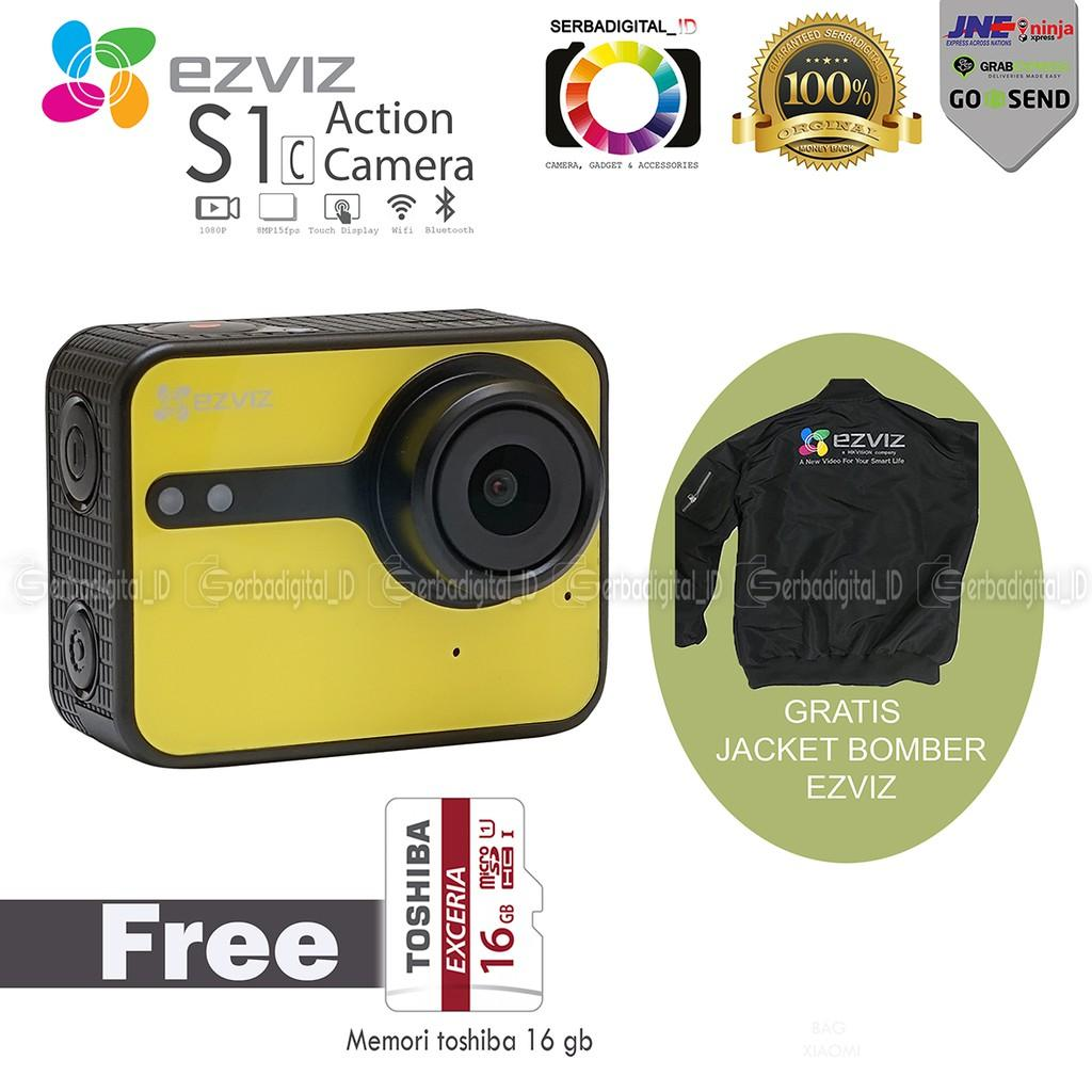 Action Camera EZVIZ S1c Full HD Action Camera-Micro Sd 16Gb 90Mb/S