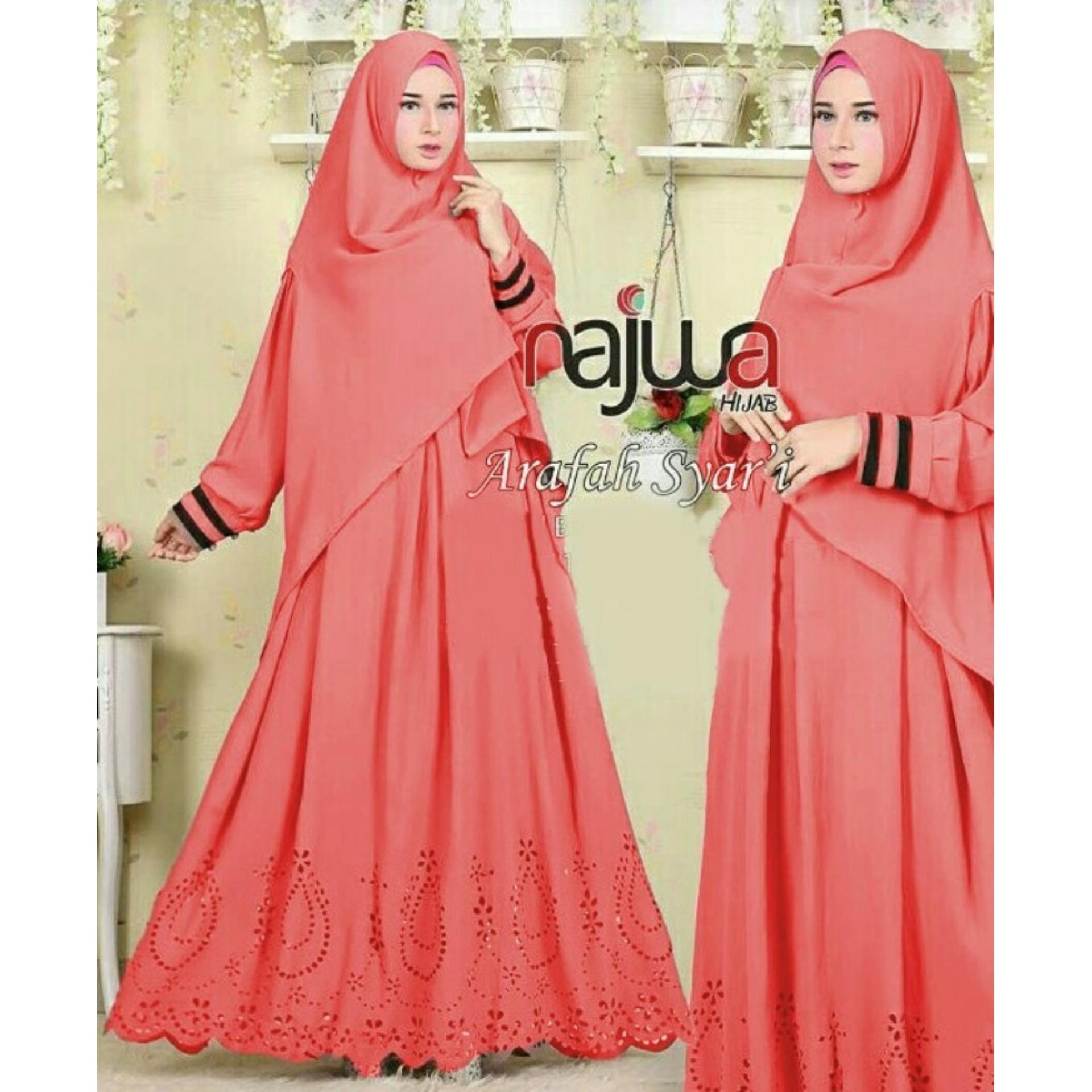 Cek Harga Baru Nazwa Dress Gamis Muslim Syarii Dress Maxi Grosir