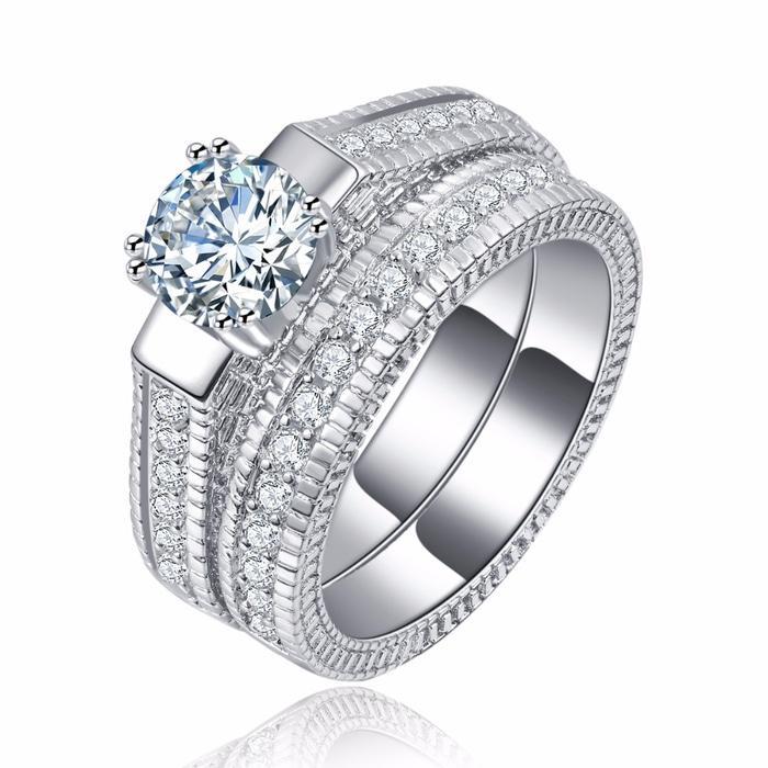 Cincin Berlian Lapis Emas Putih (Perhiasan, Kalung, Gelang) - BR083