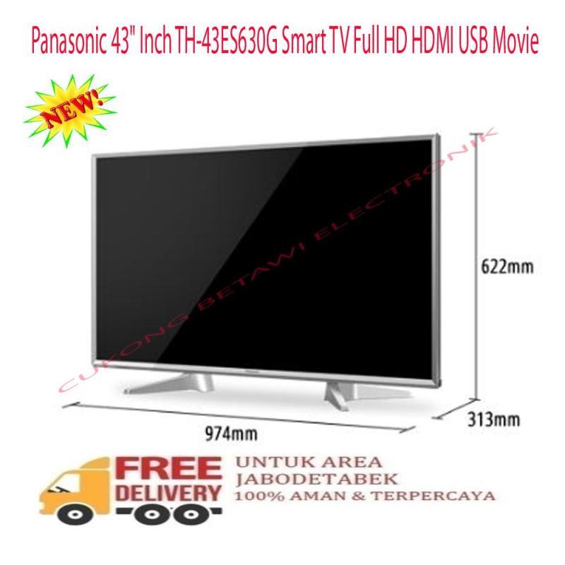 Panasonic 43 Inch TH-43ES630G Smart TV Full HD HDMI USB Movie-KHUSUS JABODETABEK
