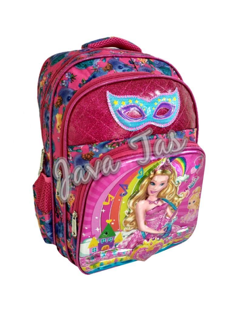 Gambar Produk Rinci Java Tas Ransel Anak Lampu + Musik Barbie Palace Pink Import Terkini