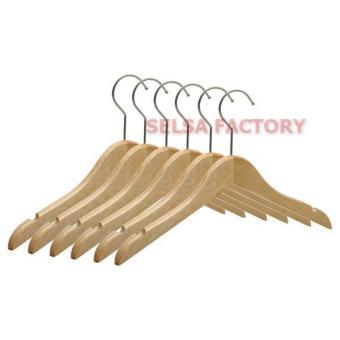 Pencari Harga Selsa Gantungan Baju Hanger Kayu Kualitas Premium Warna Natural 1/3 Lusin terbaik murah - Hanya Rp25.992