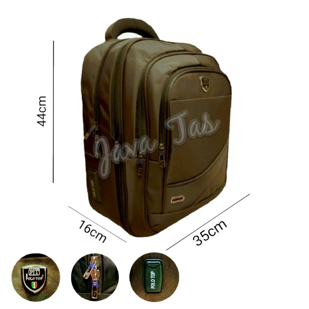 Java Tas Ransel Backpack Polo Top tas Laptop Tas Punggung Tas Kerja Tas Kuliah Platinum Gear