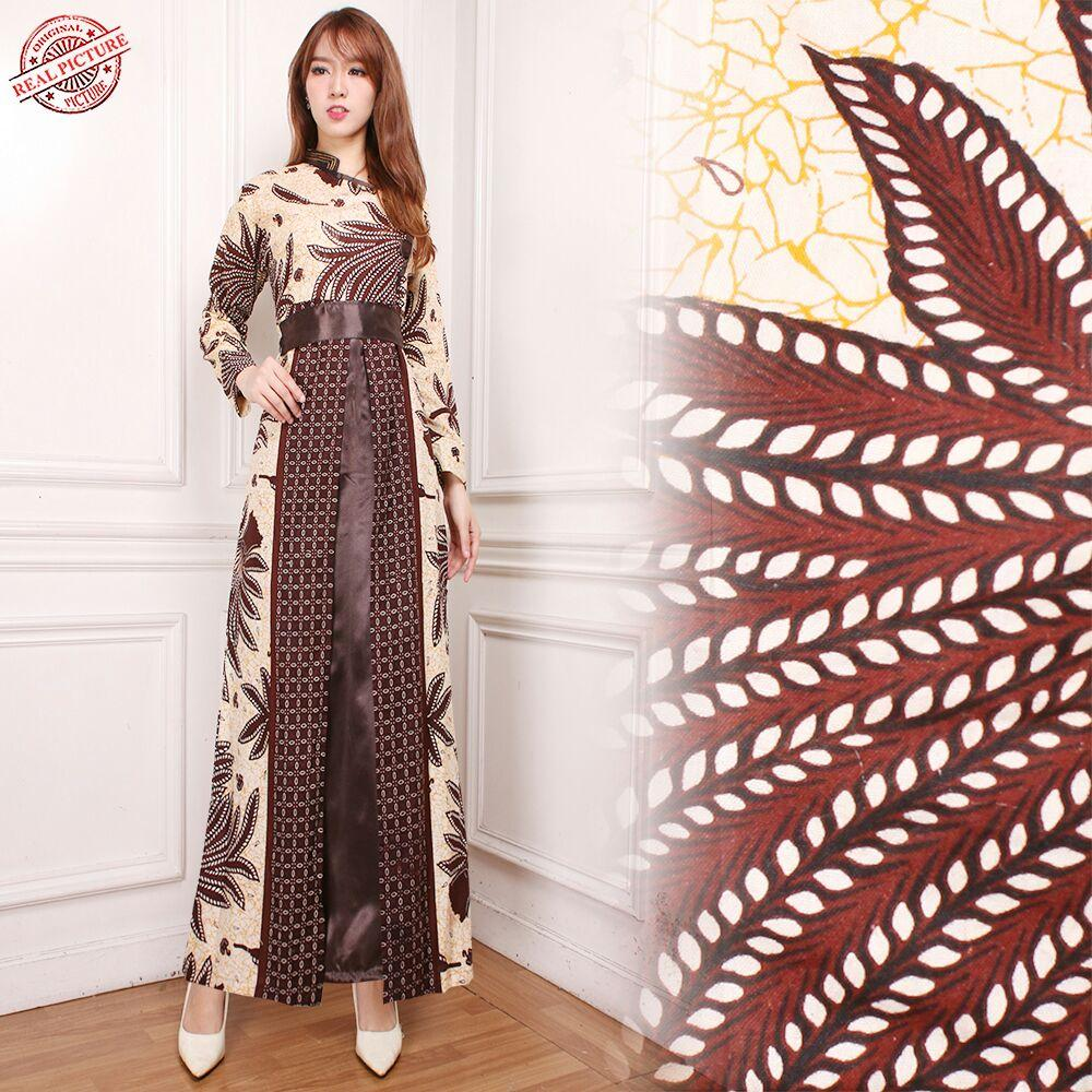 SB Collection Gamis Maxi Dress Aisha Longdress Terusan Batik Wanita