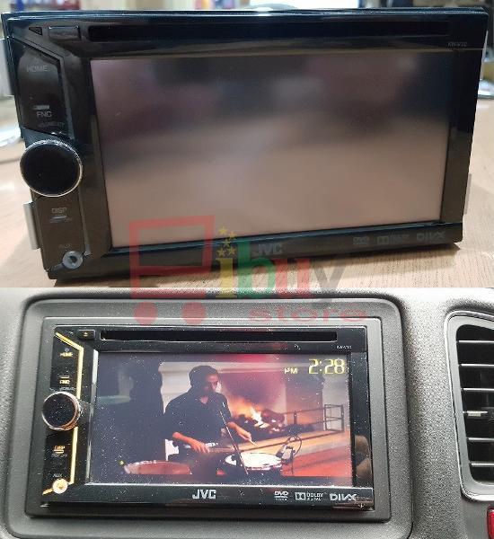 Double Din DVD JVC 6.1 inch Tipe KW V10 Support USB and AUX - Head Unit Mobil Bekas JVC Kenwood Honda HRV