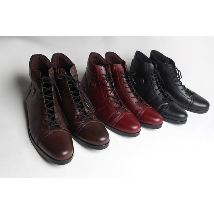 Sepatu Boot Kulit Kambing Asli (Nyaman - Ringan & Murah - Berkualitas) - Ejomaf