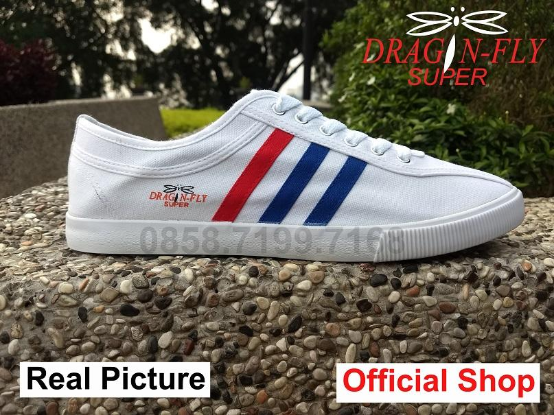 Sepatu Dragonfly Capung Legendaris Vintage White Canvas Sneakers Sport Import Original Not Kodachi Neo Dragonfly Super White
