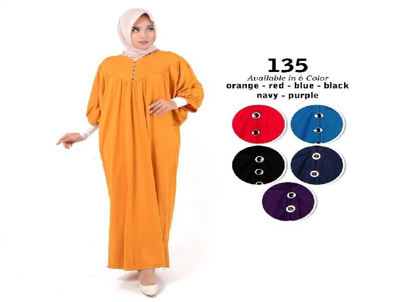 Fashion Baju Gamis Dress XL Jumbo Big Size Murah Wanita Muslim Kekinian 135