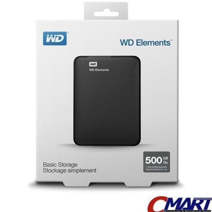 BEST SELLER - WD ELEMENTS 500GB HD HDD HARDISK HARDDISK EXTERNAL