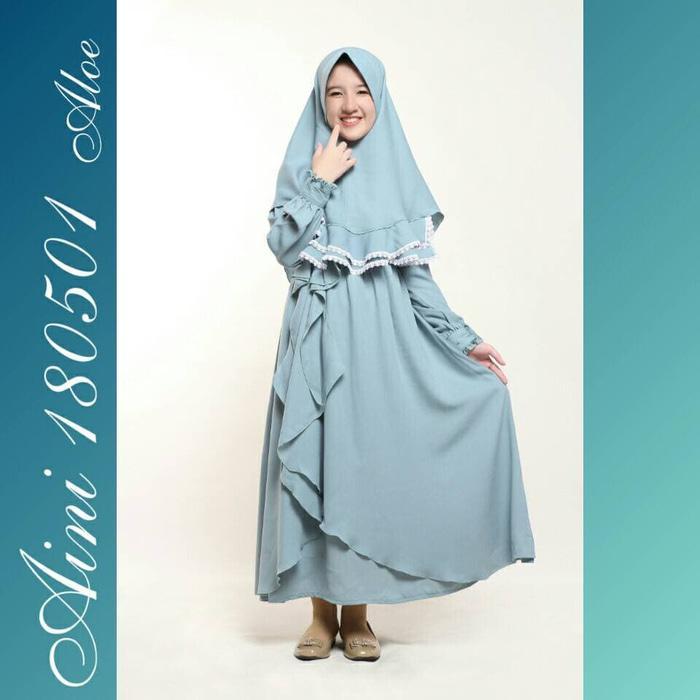 Baju Muslim Anak Perempuan Balita TK SD, Gamis Pesta Anak Aini 180501