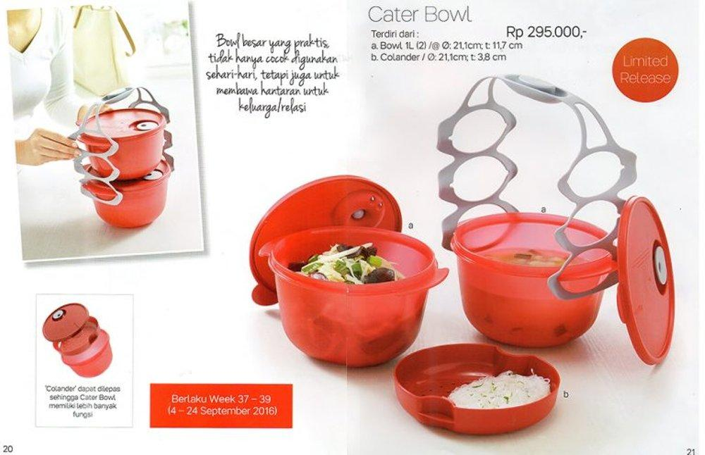 Tupperware Cater Bowl Merah-Rantang