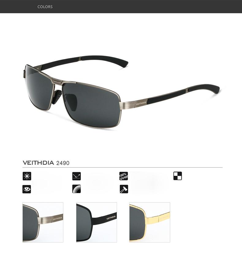 Spesifikasi dari VEITHDIA Kacamata LensaTerpolarisasi Kacamata Mengemudi Driver Memancing Kaca Mata Kacamata Aksesoris untuk Pria 2490