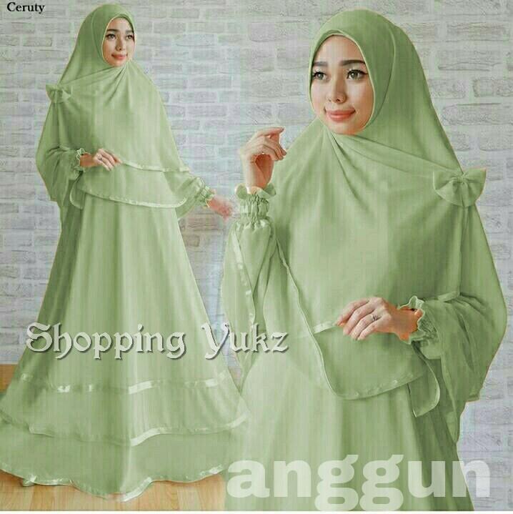 Shopping Yukz Baju Gamis Muslim Syari FITRI - HIJAU ( Dapat Jilbab ) /Dress Muslim / Fashion Muslim / Baju Muslimah / Gaun Muslim / Gamis Wanita / Hijab Muslim/ Gamis Murah
