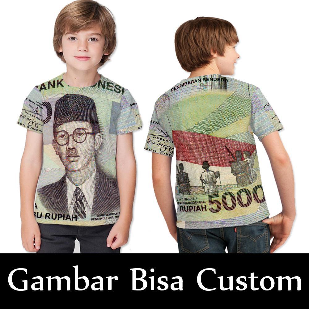 Kaos_Tshirt  Lima Puluh Ribu Rupiah Jadul Sublimation Untuk Anak CEWE/COWO Gokil