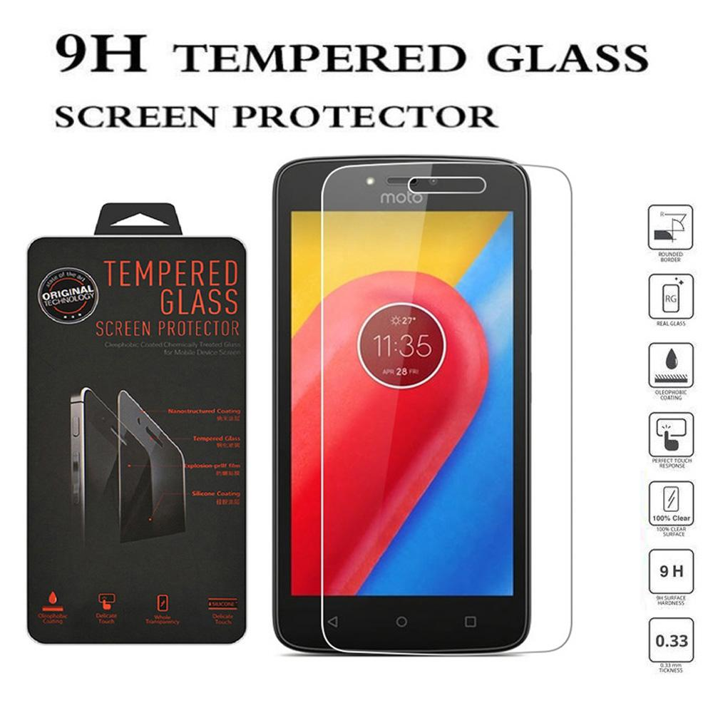 Tempered Glass Motorola Moto C Plus Ukuran 5.0 Inch Temper Anti Gores Kaca 9H / Pelindung Layar / Temper Motorola Moto C+ / Screen Guard / Screen Protection / Anti Gores Kaca Motorola Moto C Plus / Temper Kaca - Transparant
