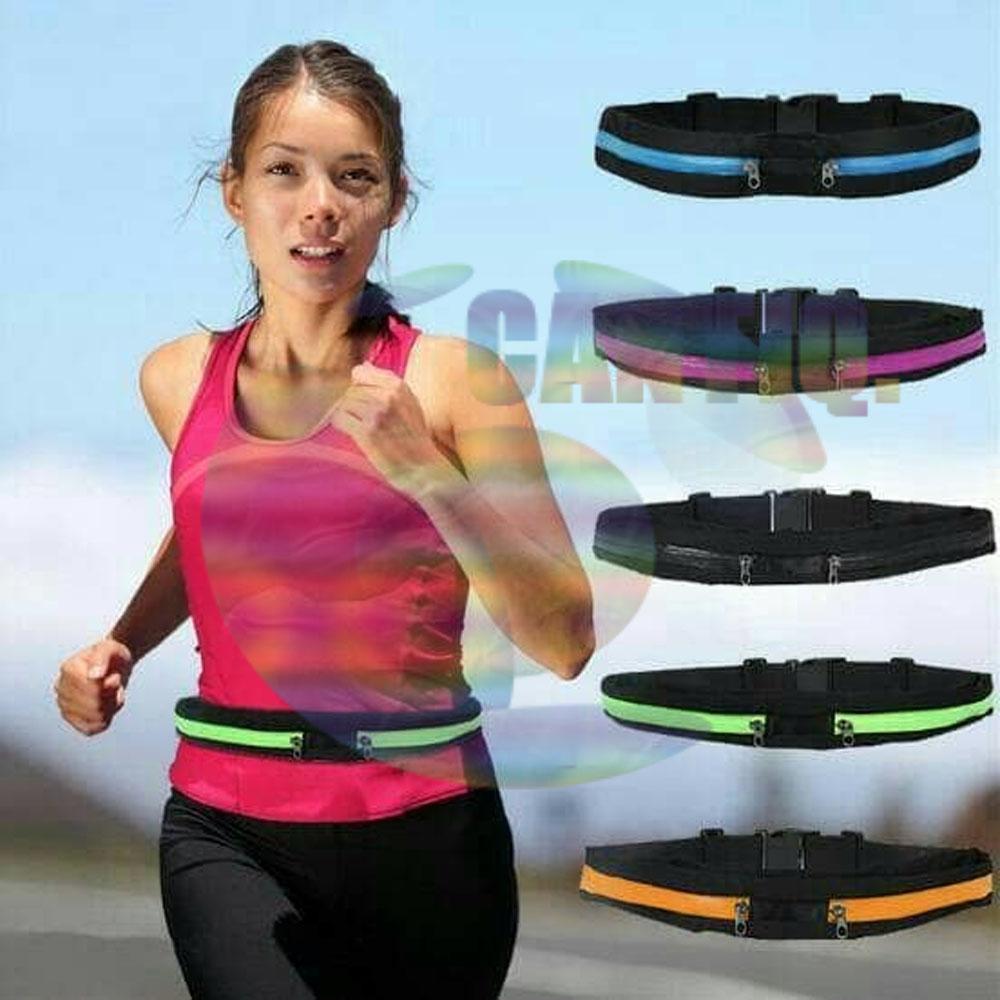 Alat Latihan Fitness Terbaik Jogging Plate Magnetic Trimmer Olahraga Portable Icantiq Double Belt Pocket Bag Sport Tas Sabuk Olah Raga Multifungsi Running Waist Pouch