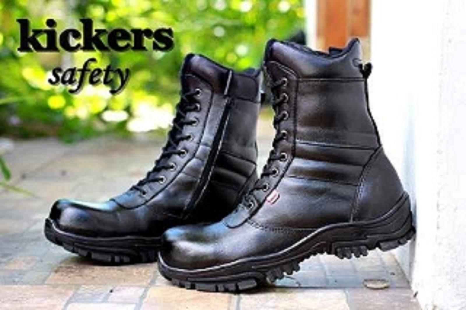 Sepatu Boots Delta Safety High PDL PDH TNI POLRI SECURITY Size 39-44 Kulit Asli Sepatu Bikers / Touring / Tracking / Hiking