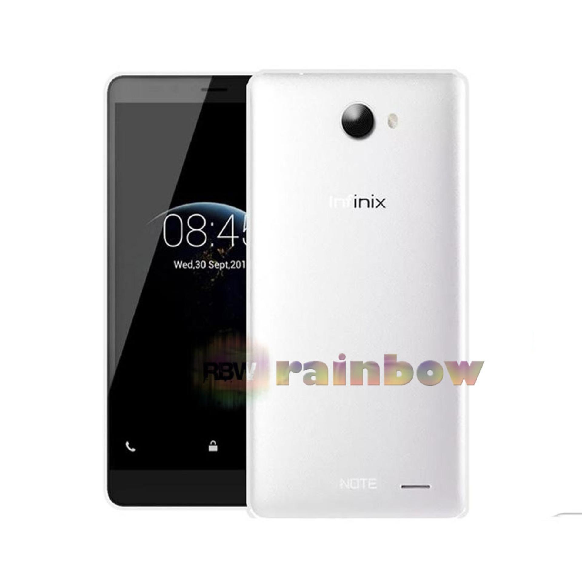 Rainbow Soft Case Infinix Note 2 X600 Clear / Silicon Case Infinix X600 / Ultrathin Infinix X600 / Silikon Infinix X600 / Jelly Case Infinix Note2 / Case Unik / Silicone Casing Infinix X600 - Transparan